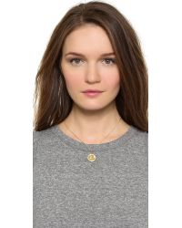 Giles & Brother - Gray Lariat Charm Necklace - Lyst
