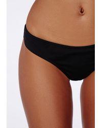 Missguided Brazilian Bikini Bottoms Black