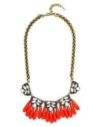 BaubleBar | Orange 'orinko' Statement Collar Necklace - Antique Gold | Lyst
