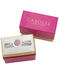 Carolee - Pink Rose Gold-tone Pavé Cheers Bracelet - Lyst