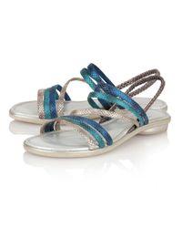Lotus | Blue Tropica Open Toe Sandals | Lyst