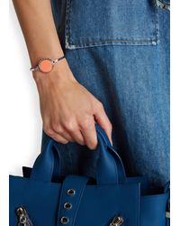 Marc By Marc Jacobs | Orange Lost And Found Silver Tone Bottle Top Bracelet | Lyst