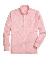 Brooks Brothers | Red Stripe Sport Shirt for Men | Lyst