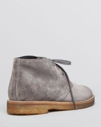 Vince Gray Lace Up Chukka Booties - Clay