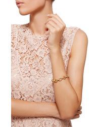 Monica Rich Kosann   Metallic 18k Yellow Gold Rosalind Link Bracelet   Lyst