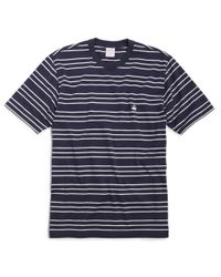 Brooks Brothers | Blue Supima® Cotton Triple Stripe Tee Shirt for Men | Lyst