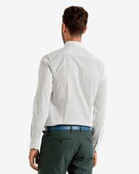 Ted Baker   White Ls Ghost Print Shirt for Men   Lyst
