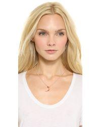 Katie Rowland Pink Mini Talon Pendant Necklace Rose Gold