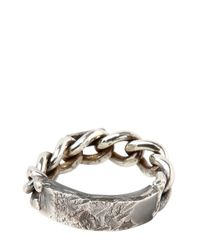 Emanuele Bicocchi | Metallic Chained Silver Ring for Men | Lyst