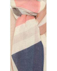 Tory Burch - Pink Exploded Fret Oblong Scarf - Lyst