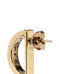 Lulu Frost Metallic 'veratrum' Crystal Pavé Arch Stud Earrings