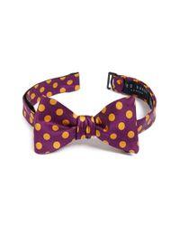 Ted Baker | Blue 'satin Doll Dot' Silk Bow Tie for Men | Lyst