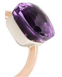 Pomellato - Purple Nudo Maxi 18-karat Rose Gold Amethyst Ring - Lyst