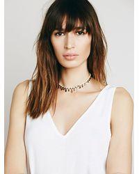 Free People - White Rachel Beaded Collar - Lyst