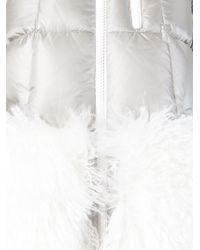 Moncler Grenoble Metallic Fur Panel Padded Jacket