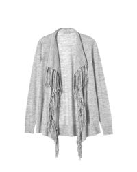 Rebecca Taylor | Gray Checker Pointelle Cardigan | Lyst