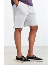 BDG - Gray Cutoff Knit Short for Men - Lyst