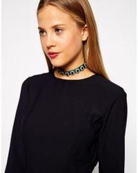 ASOS | Green Emerald Jewel Ribbon Choker Necklace | Lyst