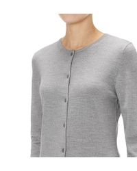 Sunspel | Gray Women's Fine Merino Cardigan | Lyst