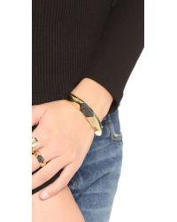 House of Harlow 1960 - Metallic Modern Revival Hinged Cuff Bracelet - Lyst