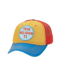 True Religion - Multicolor Medallion Logo Trucker Cap for Men - Lyst