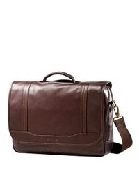 Samsonite | Brown Columbian Leather Flapover Briefcase for Men | Lyst