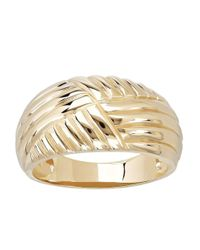 Lord & Taylor - Metallic 14 Kt. Yellow Gold Textured Dome Ring - Lyst