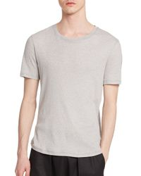 Helmut Lang | Gray Thermal Tee for Men | Lyst