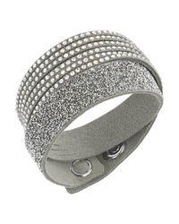 Swarovski | Gray Slake Grey Duo Bracelet | Lyst