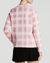 Marc By Marc Jacobs Pink Sweatshirt - Blurred Gingham