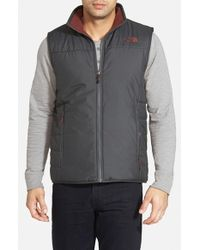 The North Face - Black 'Trinity' Reversible Vest for Men - Lyst
