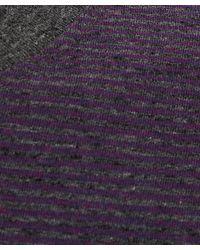 Paul Smith - Purple Melange Striped Cotton T-shirt for Men - Lyst