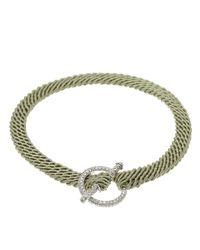 Ruby Kovo Green Pave Diamond Toggle Bracelet