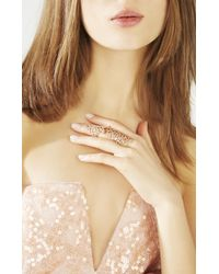 BCBGMAXAZRIA Pink Pave Jointed Ring
