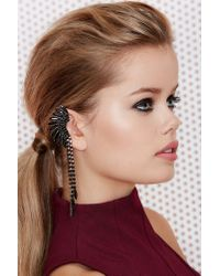 Nasty Gal | Black Mohawk Jewel Ear Cuff | Lyst