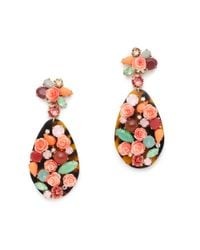 J.Crew - Pink Tortoise Wildflower Earrings - Lyst