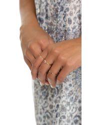 Zoe Chicco - Metallic Open Bezel Set Ring - Lyst