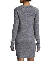 Current/Elliott Gray The Easy Long-sleeve Sweaterdress