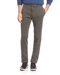 Billy Reid | Brown Leonard Cotton Chinos for Men | Lyst