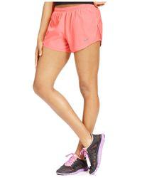 Nike - Orange Tempo Herringbone-Print Running Shorts - Lyst