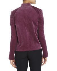 Haider Ackermann - Purple Aubergine Asymmetrical Moto Jacket - Lyst