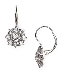Nadri - Metallic Flower Earrings - Lyst