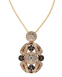 Effy | Metallic Brown And White Diamonds 14k Yellow Gold Pendant Necklace, 1.04 Tcw | Lyst