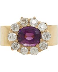 Renee Lewis - Metallic Amethyst & White Diamond Ring - Lyst