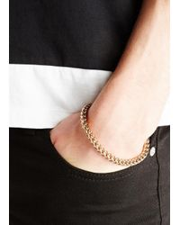 Vitaly - Metallic Kusari Gold Tone Bracelet for Men - Lyst