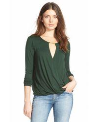 Ella Moss Green 'Bella' Long Sleeve Top