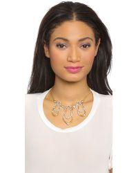 Alexis Bittar Metallic Leaf Necklace - Gold