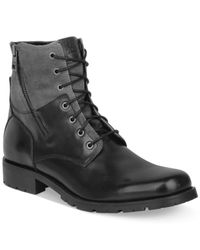 Marc New York | Black Vesey Leather And Canvas Boots for Men | Lyst