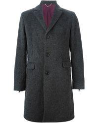 DIESEL - Gray 'w-chris' Coat for Men - Lyst