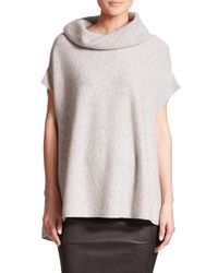 Vince - Gray Cowlneck Cashmere Sweater - Lyst